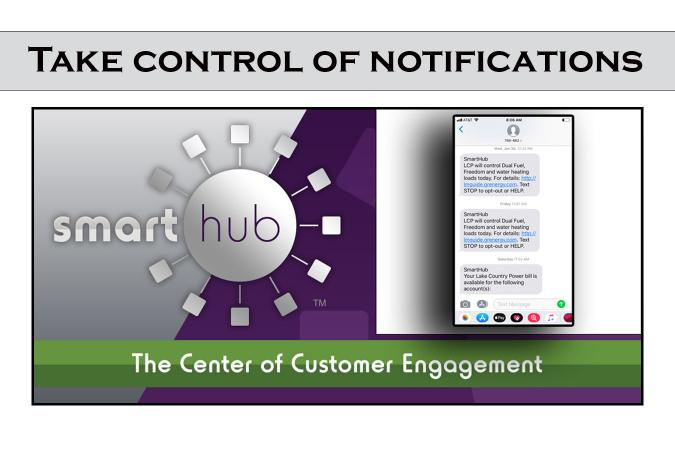 Take control of notification graphic