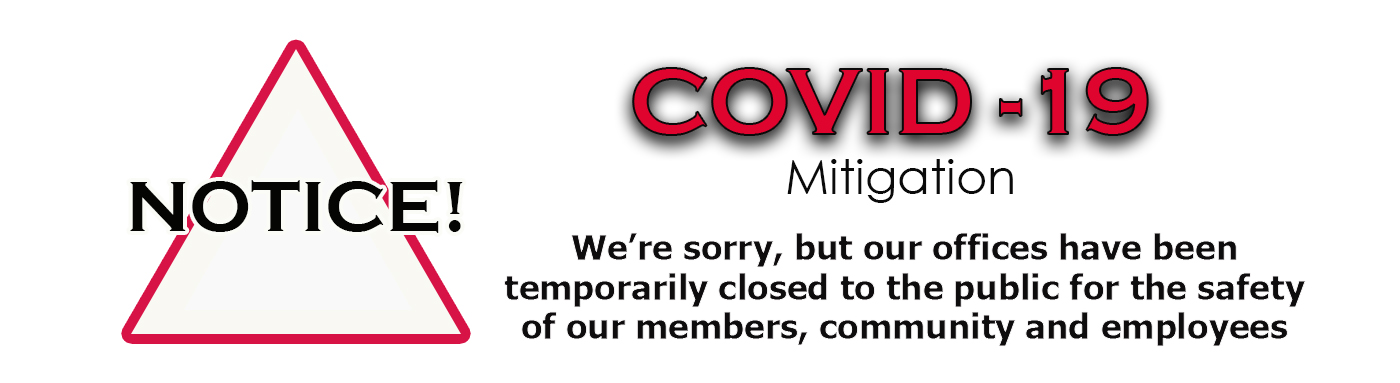 Notice of office closures due to COVID-19 pandemic