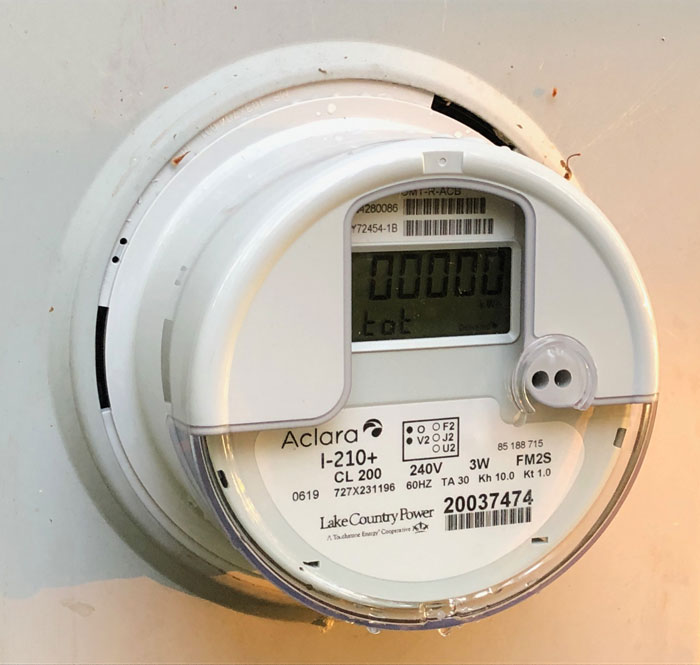 New Aclara meter on home