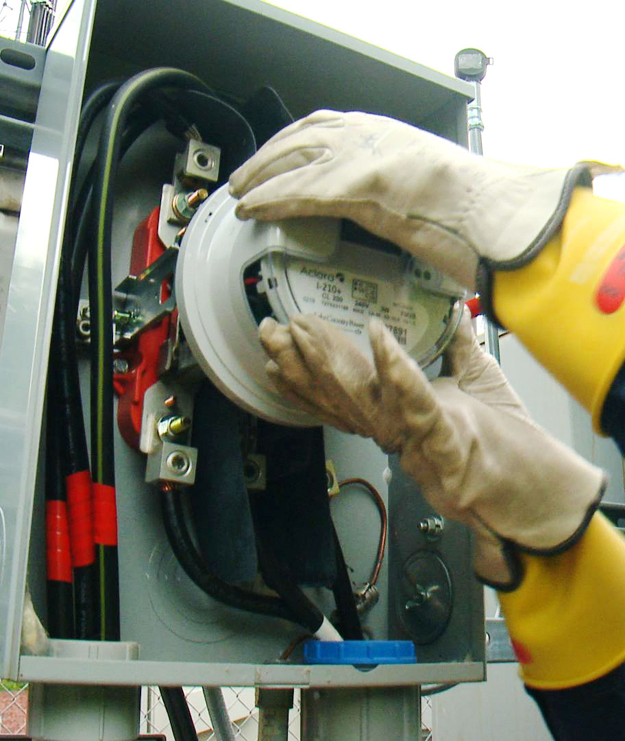 Removal of electric meter.